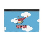 Helicopter Genuine Leather ID & Card Wallet - Slim Style (Personalized)