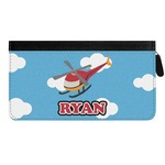 Helicopter Genuine Leather Ladies Zippered Wallet (Personalized)