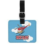 Helicopter Genuine Leather Rectangular  Luggage Tag (Personalized)