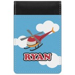 Helicopter Genuine Leather Small Memo Pad (Personalized)
