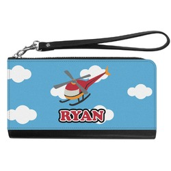 Helicopter Genuine Leather Smartphone Wrist Wallet (Personalized)