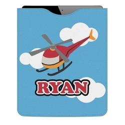 Helicopter Genuine Leather iPad Sleeve (Personalized)
