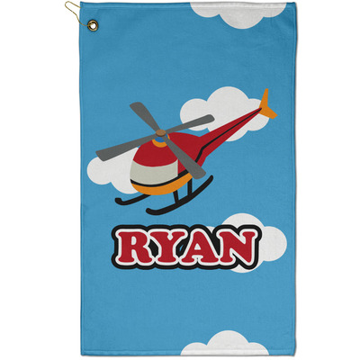 Helicopter Golf Towel - Full Print - Small w/ Name or Text