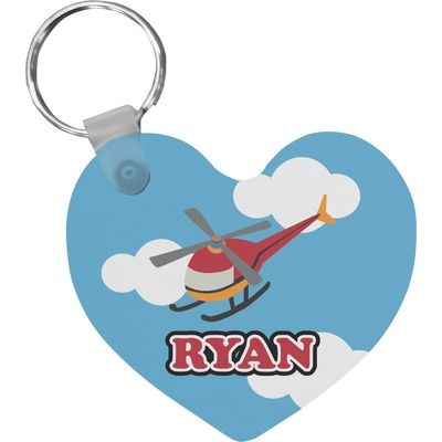 Helicopter Heart Keychain (Personalized)