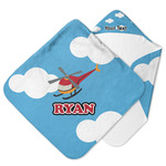 Helicopter Hooded Baby Towel (Personalized)