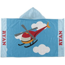 Helicopter Kids Hooded Towel (Personalized)