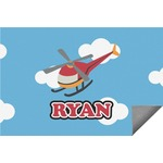 Helicopter Indoor / Outdoor Rug (Personalized)