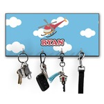 Helicopter Key Hanger w/ 4 Hooks (Personalized)