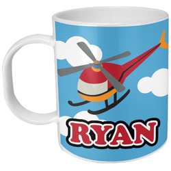 Helicopter Plastic Kids Mug (Personalized)