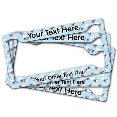 Helicopter License Plate Frame (Personalized)