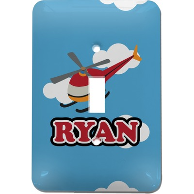 Helicopter Light Switch Cover (Single Toggle) (Personalized)