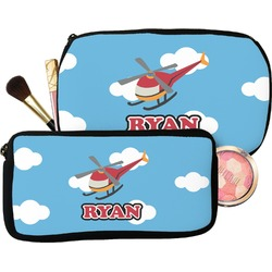 Helicopter Makeup / Cosmetic Bag (Personalized)
