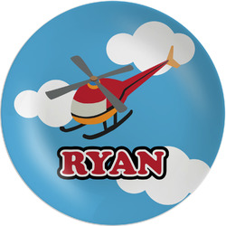 Helicopter Melamine Plate (Personalized)