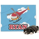 Helicopter Minky Dog Blanket (Personalized)
