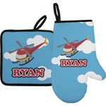 Helicopter Oven Mitt & Pot Holder (Personalized)