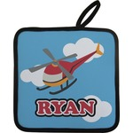 Helicopter Pot Holder w/ Name or Text