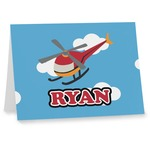 Helicopter Notecards (Personalized)