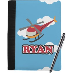 Helicopter Notebook Padfolio - Large w/ Name or Text