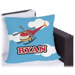 Helicopter Outdoor Pillow (Personalized)