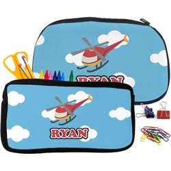 Helicopter Pencil / School Supplies Bag (Personalized)