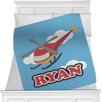 Helicopter Minky Blanket (Personalized)