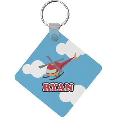 Helicopter Diamond Key Chain (Personalized)