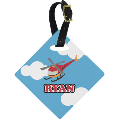 Helicopter Diamond Luggage Tag (Personalized)