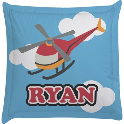 Helicopter Euro Sham Pillow Case (Personalized)