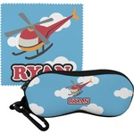 Helicopter Eyeglass Case & Cloth (Personalized)