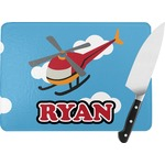 Helicopter Rectangular Glass Cutting Board (Personalized)