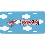 Helicopter Front License Plate (Personalized)