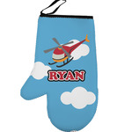 Helicopter Left Oven Mitt (Personalized)