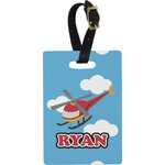 Helicopter Rectangular Luggage Tag (Personalized)