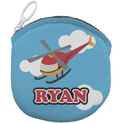 Helicopter Round Coin Purse (Personalized)