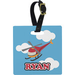 Helicopter Square Luggage Tag (Personalized)