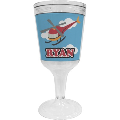Helicopter Wine Tumbler (Personalized)