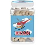 Helicopter Pet Treat Jar (Personalized)