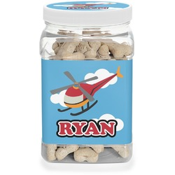 Helicopter Dog Treat Jar (Personalized)