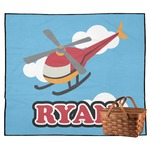 Helicopter Outdoor Picnic Blanket (Personalized)