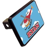 """Helicopter Rectangular Trailer Hitch Cover - 2"""" (Personalized)"""