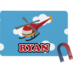 Helicopter Rectangular Fridge Magnet (Personalized)