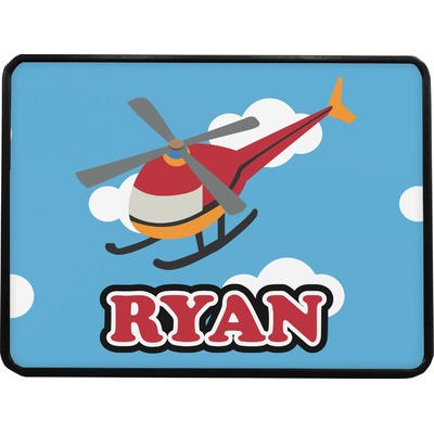Helicopter Rectangular Trailer Hitch Cover (Personalized)