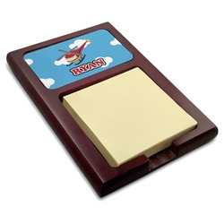 Helicopter Red Mahogany Sticky Note Holder (Personalized)