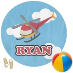 Helicopter Round Beach Towel (Personalized)