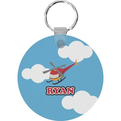 Helicopter Round Keychain (Personalized)