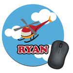 Helicopter Round Mouse Pad (Personalized)