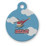 Helicopter Round Pet Tag (Personalized)