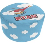 Helicopter Round Pouf Ottoman (Personalized)