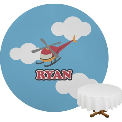 Helicopter Round Tablecloth (Personalized)