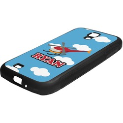 Helicopter Rubber Samsung Galaxy 4 Phone Case (Personalized)